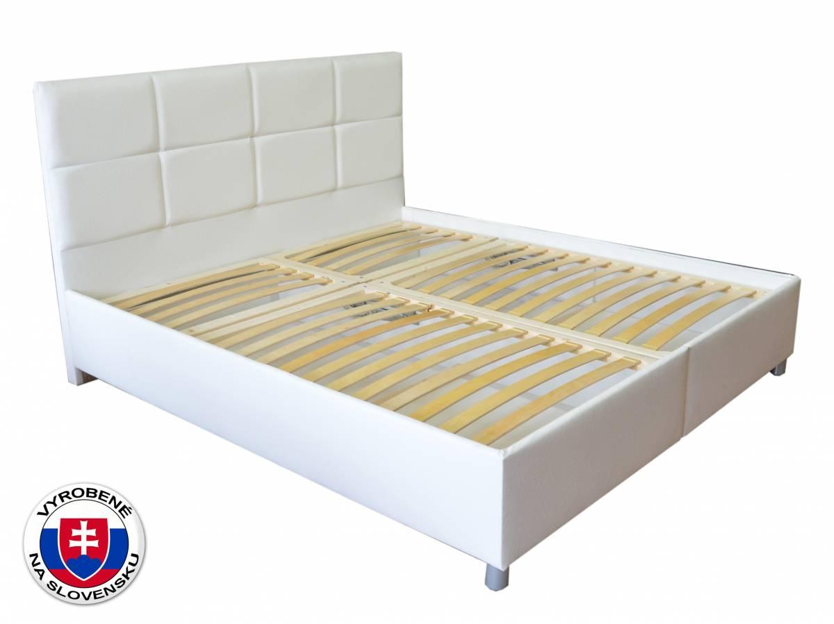 Manželská posteľ 180 cm Albatros (biela) (s roštami, bez matracov)