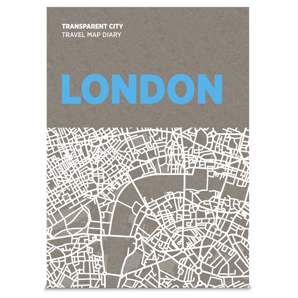 Mapa na popisky Palomar Transparent City Londýn