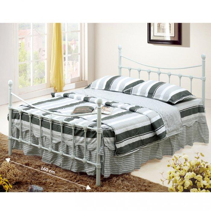 TEMPO KONDELA NIEVES 160 manželská posteľ s roštom - biela