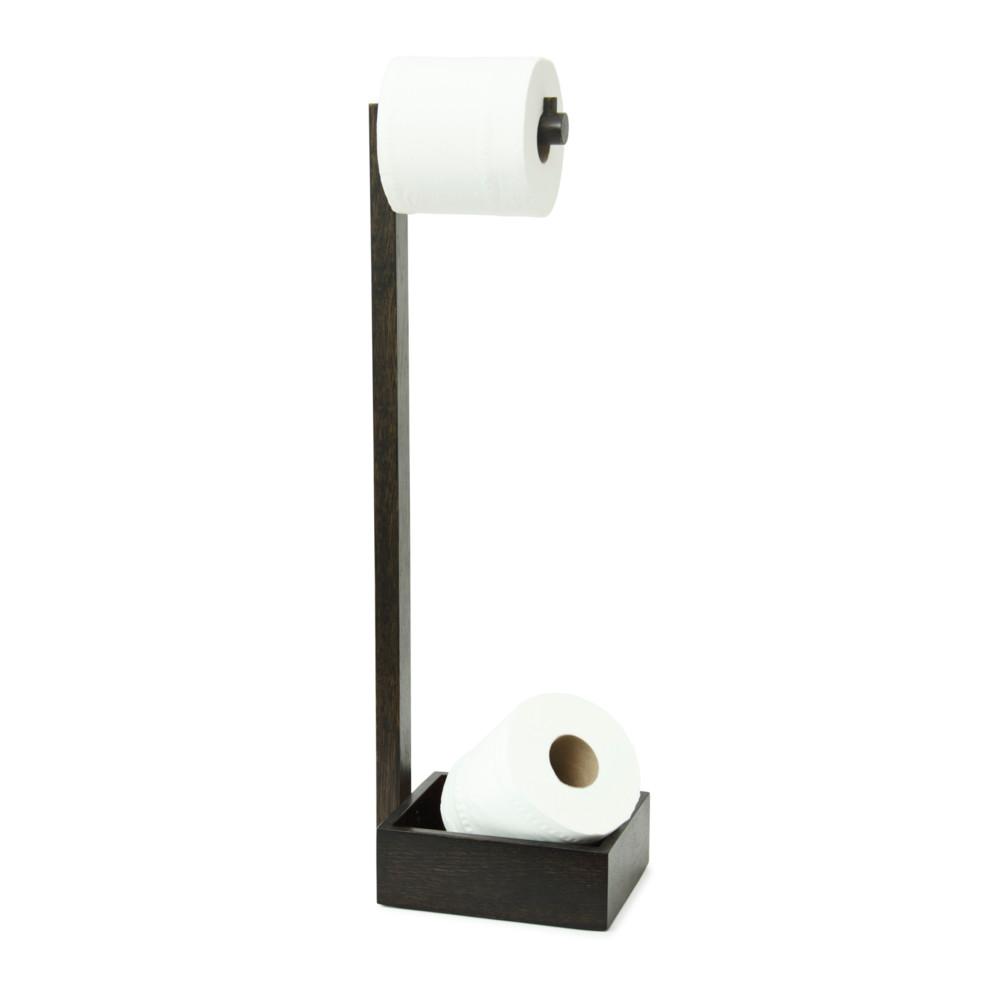 Drevený stojan na toaletný papier Wireworks Mezza Dark