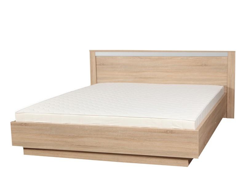 ALMOND posteľ 160 dub sonoma s roštom