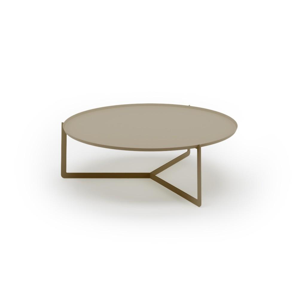 Hnedý konferenčný stolík MEME Design Round, Ø 95 cm