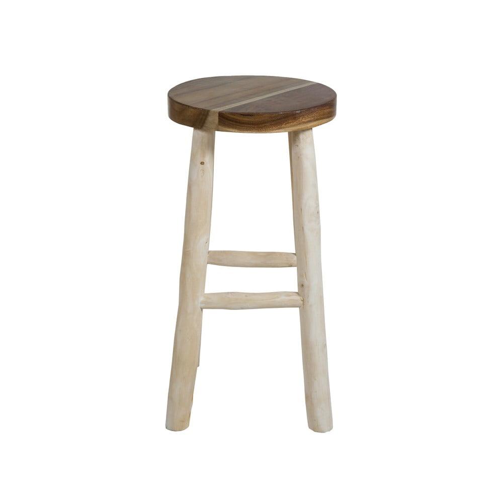 Vysoká barová stolička z teakového dreva Santiago Pons Capri