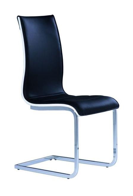 Jedálenská stolička HK-133, čierna/biela