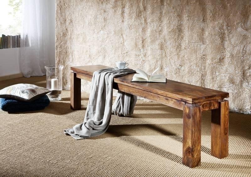 METRO LIFE #160 Sheesham lavica 140x35, masívne palisandrové drevo