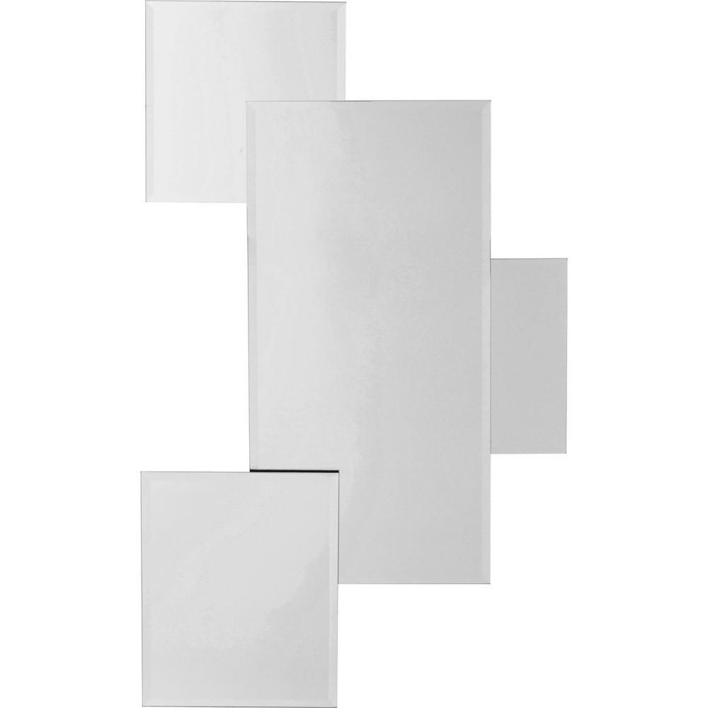 Zrkadlo s LED osvetlením Kare Design Spiegel Pebbles Squares