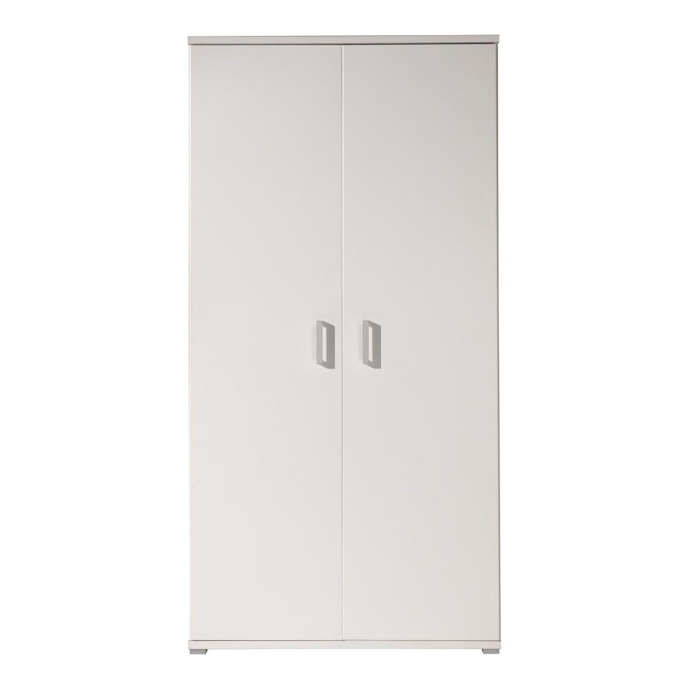 Biela šatníková skriňa Vipack Milan, 198×59×105 cm