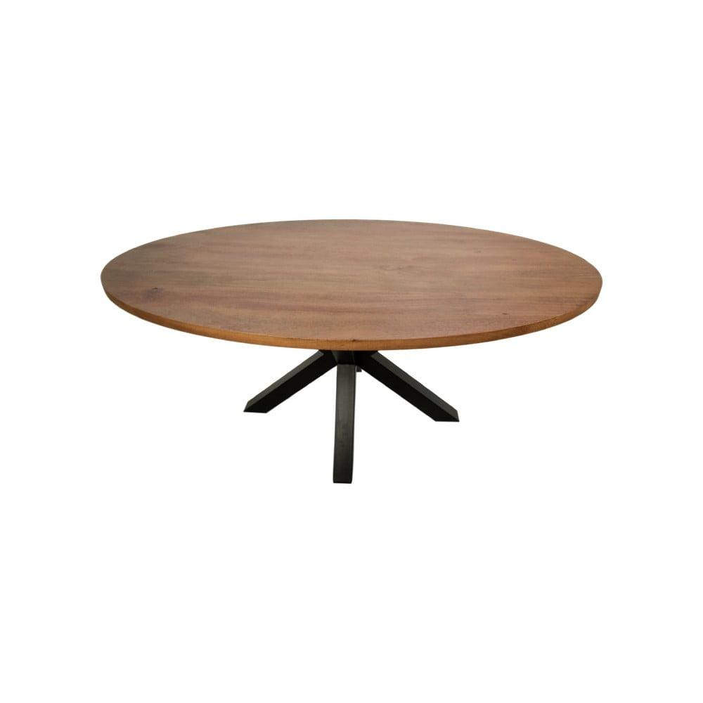 Oválny jedálenský stôl s doskou z mangového dreva HMS collection, 200 x 100 cm