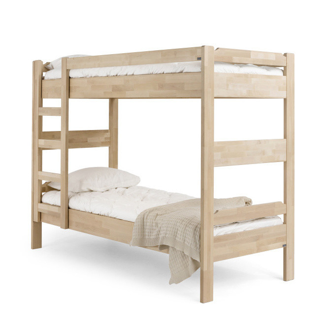 Ručne vyrobená poschodová posteľ z masívneho brezového dreva Kiteen Kuusamo, 80 x 200 cm