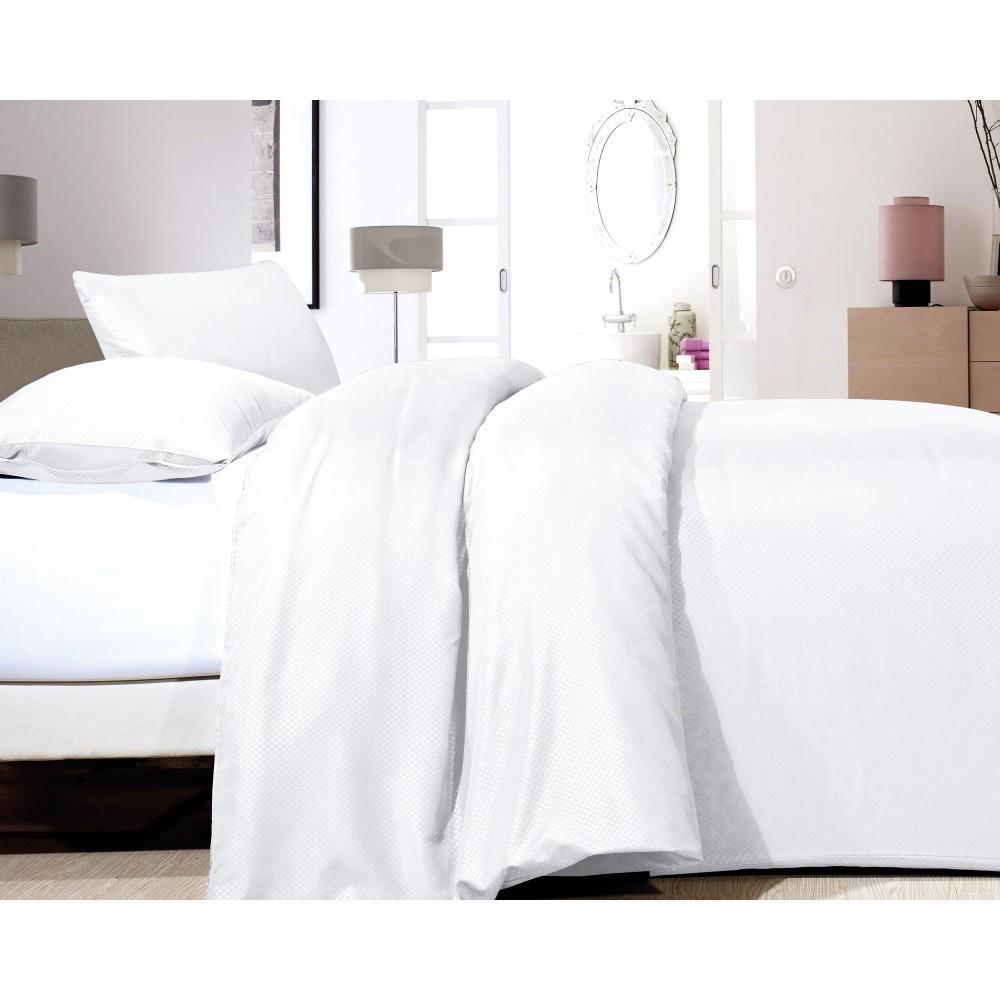 Biele obliečky z mikroperkálu Zensation Satin Point, 200 x 200 cm