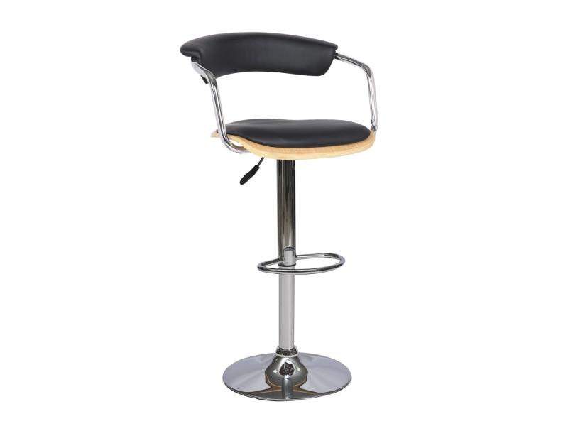 CB-973 barová stolička, dub/čierna