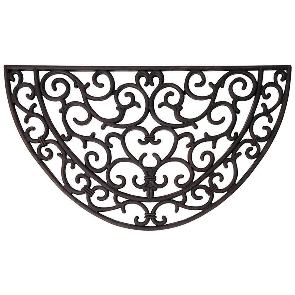 Gumová polkruhová rohožka Esschert Design Ornamental