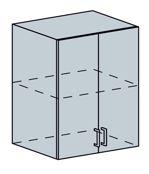 VEGAS horná skrinka 2-dverová 60H, sv.zelený metalic