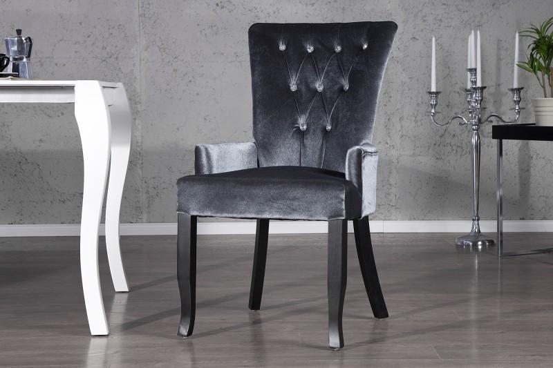 Stolička  BAROCCO SET GREY - sivá