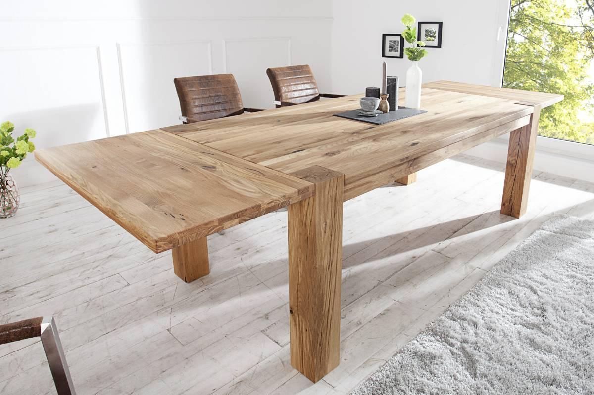 Rozkladací jedálenský stôl WILDOK 200-300 cm - prírodná