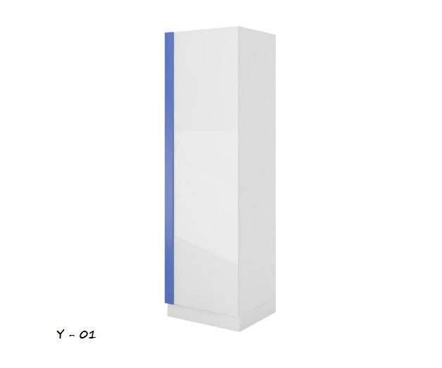 Detská skriňa Yeti Y-01   Farba: Biela / biela lesk / cyklámenová