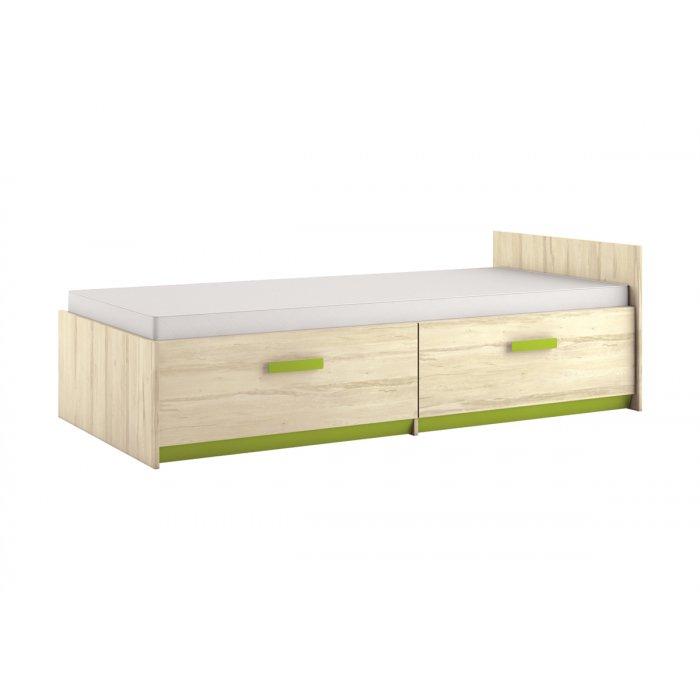 ML MEBLE BEST 17 90 posteľ - breza / limetková