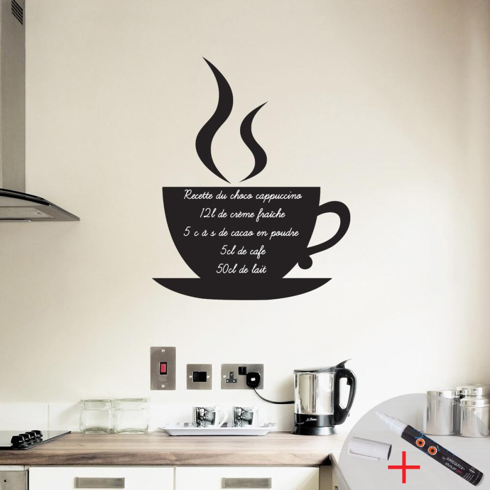 Set popisovateľnej samolepky a fixky Ambience Coffee
