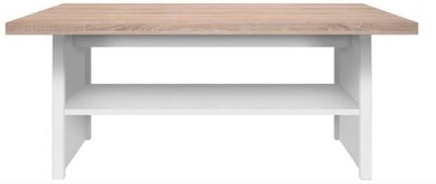 Konferenčný stolík 115, DTD laminovaná, biela/dub sonoma, TOPTY