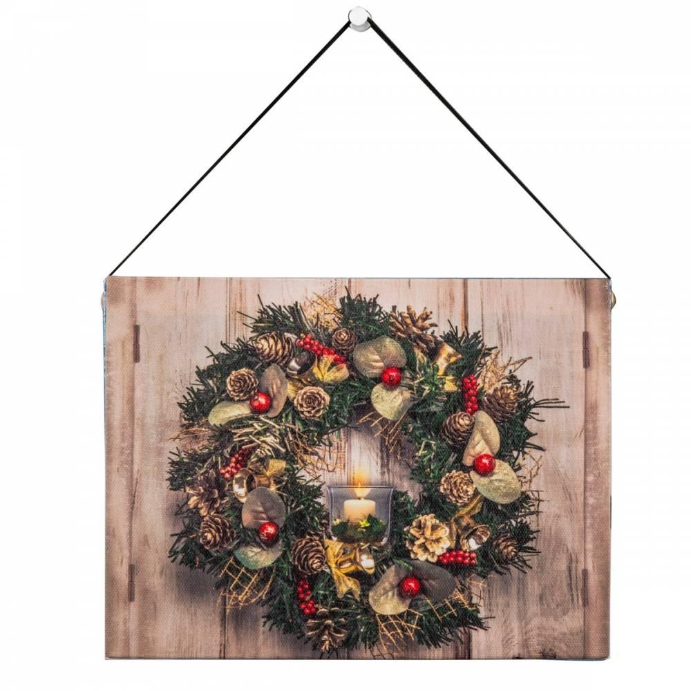 Altom LED obraz na plátne Christmas, 20 x 15 cm