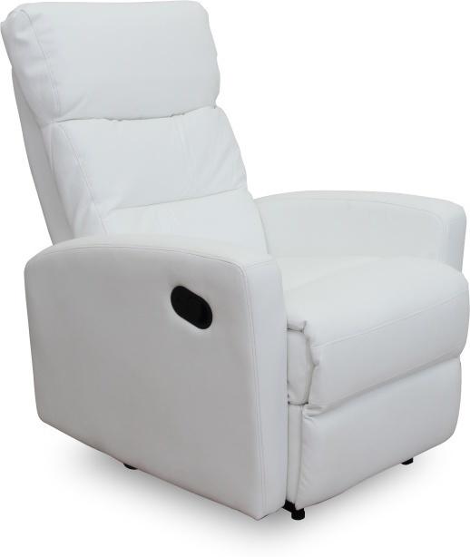 Relaxačné kreslo, ekokoza, biela, SILAS