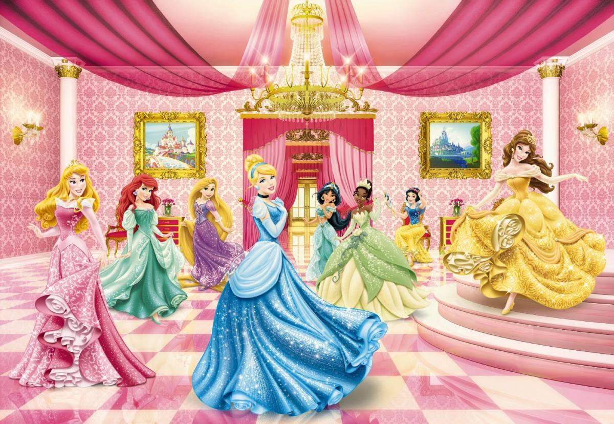 Fototapeta DISNEY 476 8-dielna Princezné na bále 254x368 cm