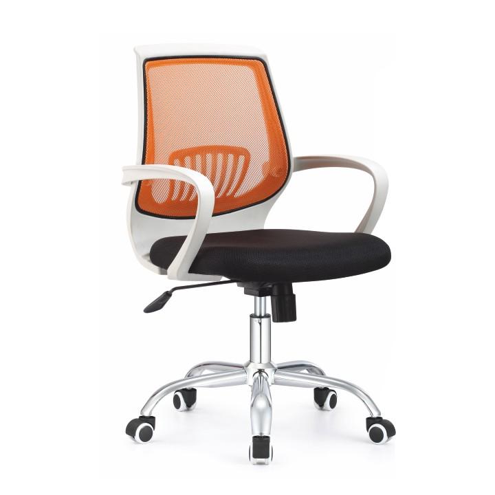 Kancelárske kreslo Lancelot oranžová + čierna
