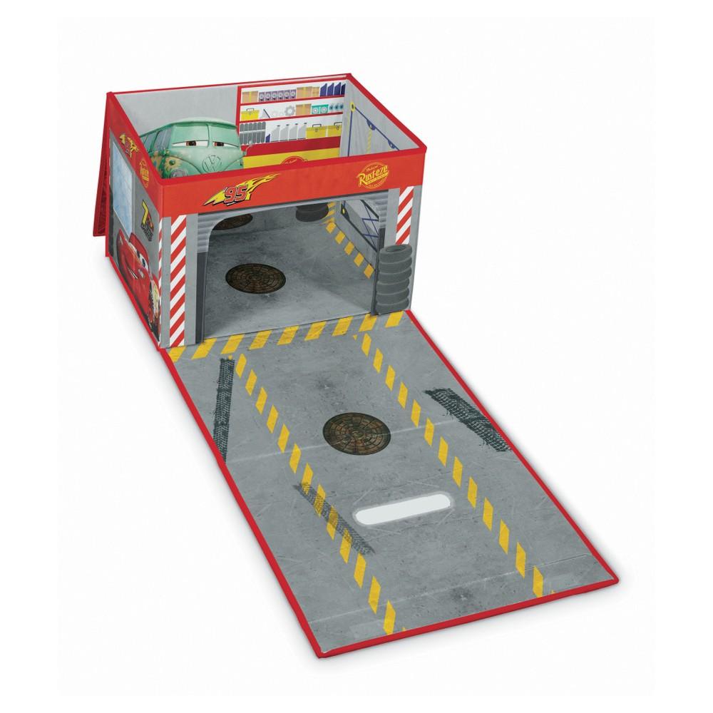Rozkladací úložný box s hracím domčekom Domopak Cars