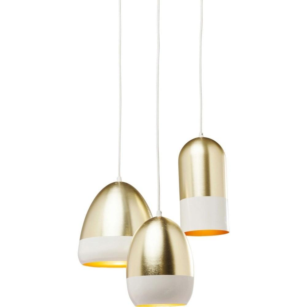Stropné svietidlo v zlatej farbe Kare Design Miami Vice