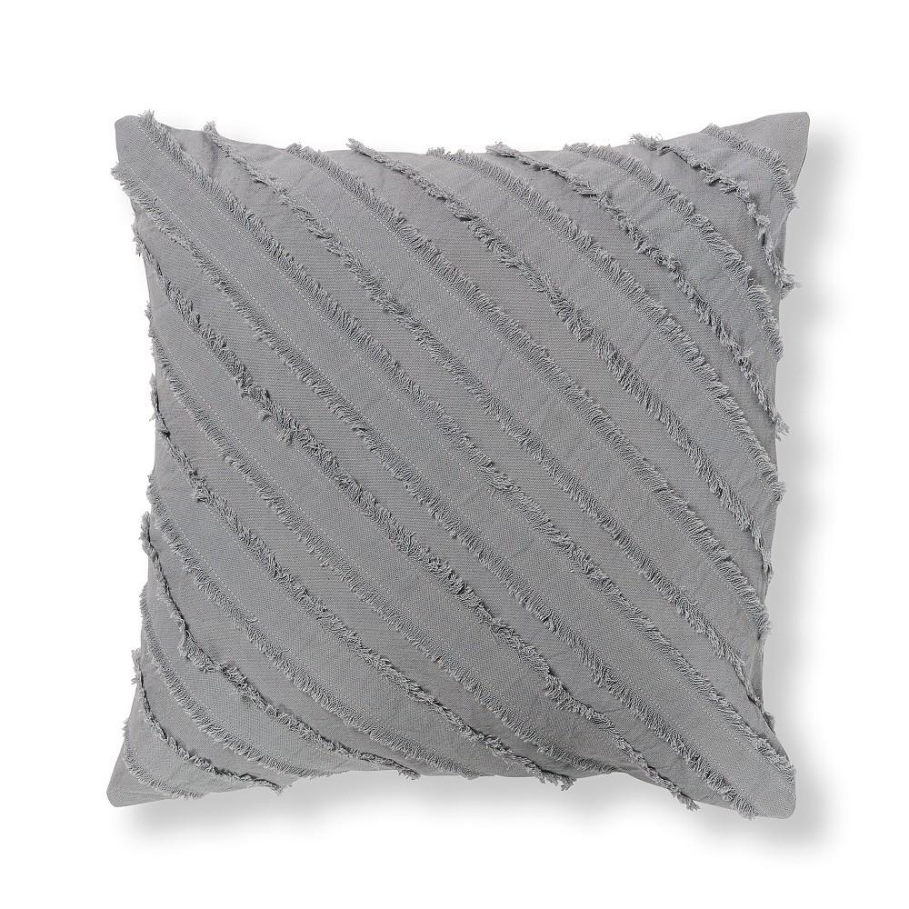 Sivá obliečka na vankúš La Forma Delia, 45 x 45 cm