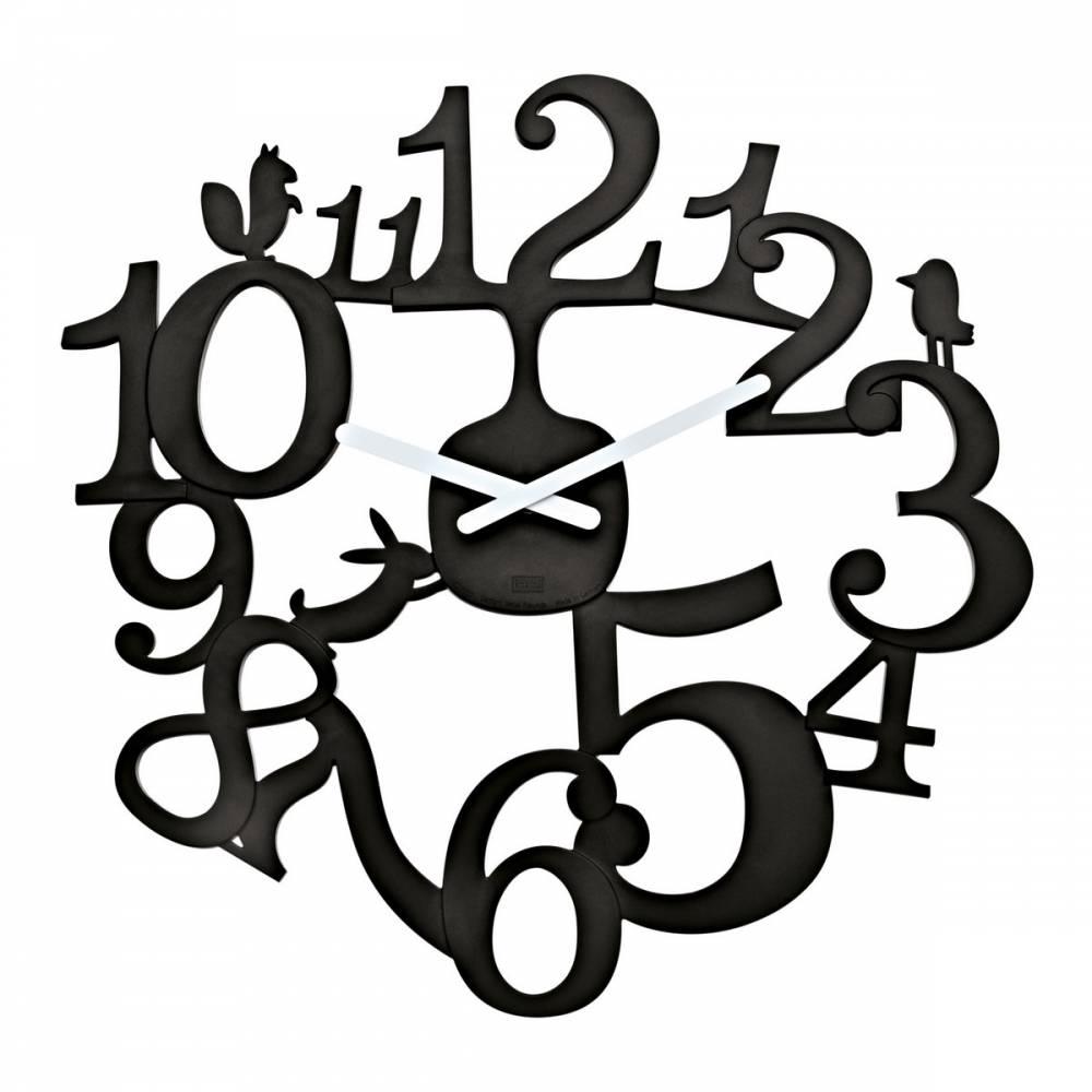 Koziol Nástenné hodiny PI:P čierna, pr. 45 cm