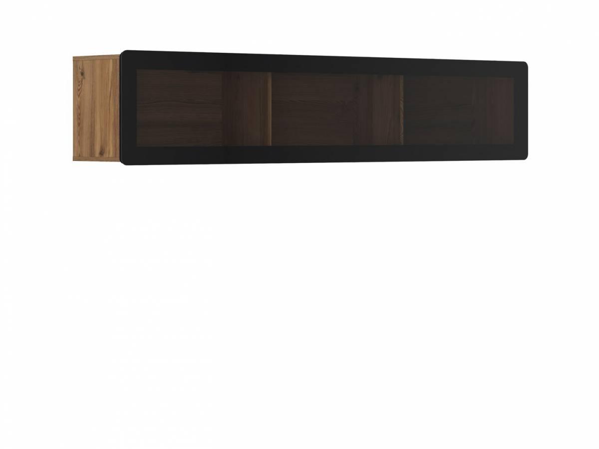 Vitrína na stenu Possi Light SFW1WK/4/20 (smrekovec sibiu zlatý) (s osvetlením)