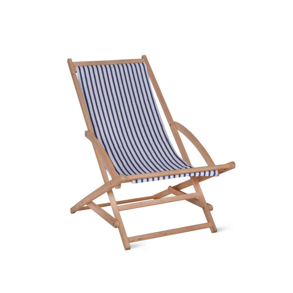 Záhradné ležadlo Garden Trading Rocking Deck Chair Blue Stripe