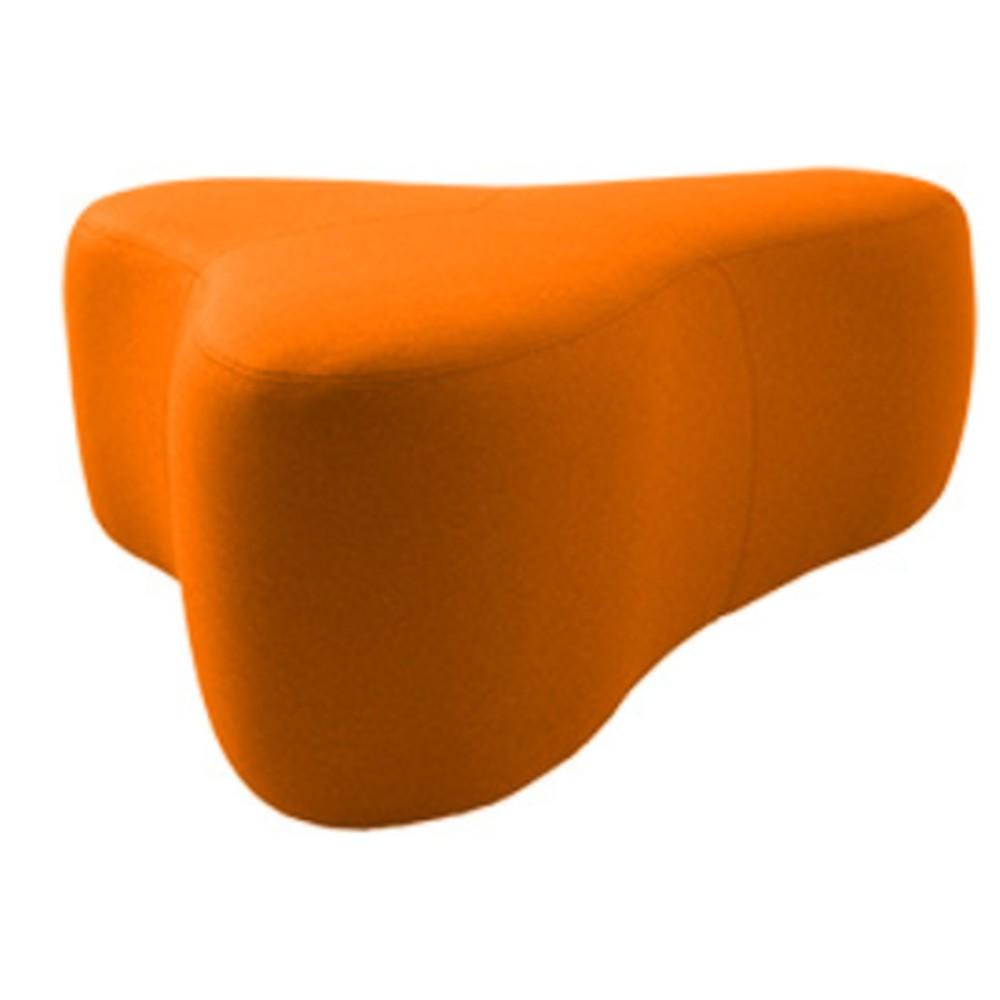 Oranžový puf Softline Chat Valencia Orange, dĺžka 130 cm