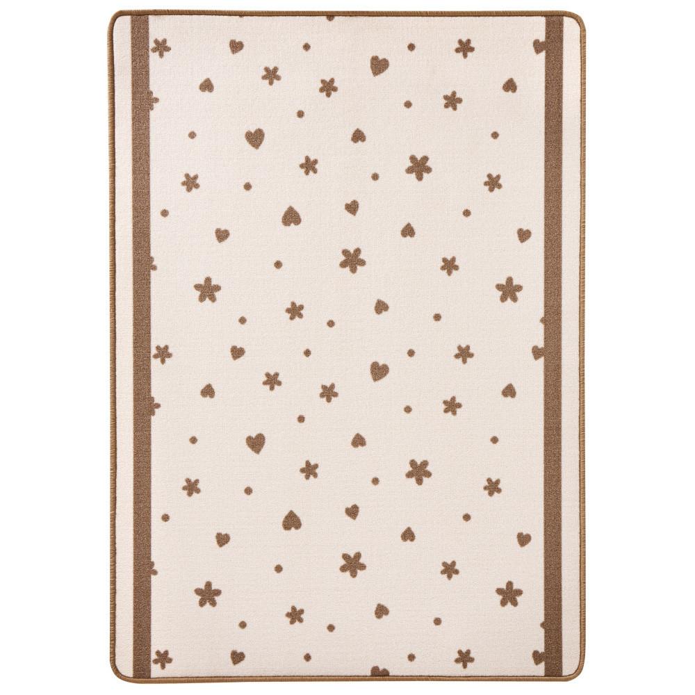 Detský béžový koberec Zala Living Luna Stars & Hearts, 100x140cm