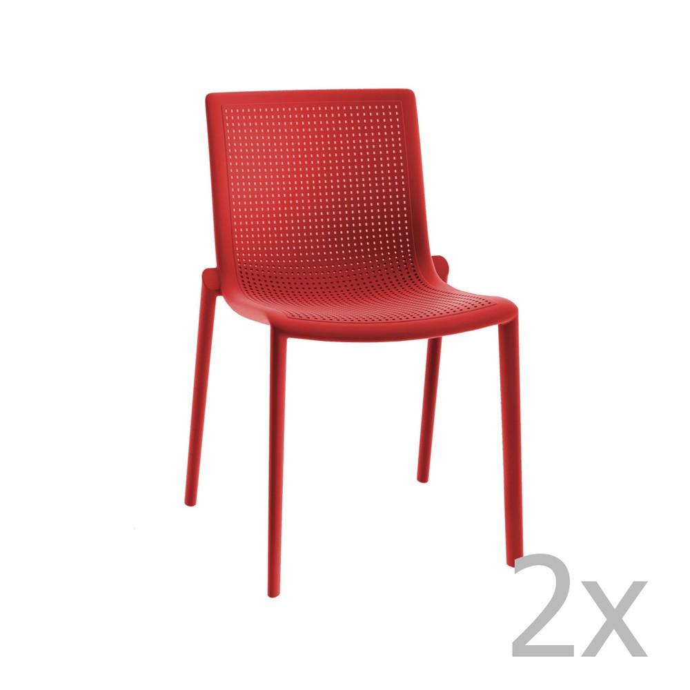 Sada 2 červených záhradných stoličiek Resol Beekat Simple