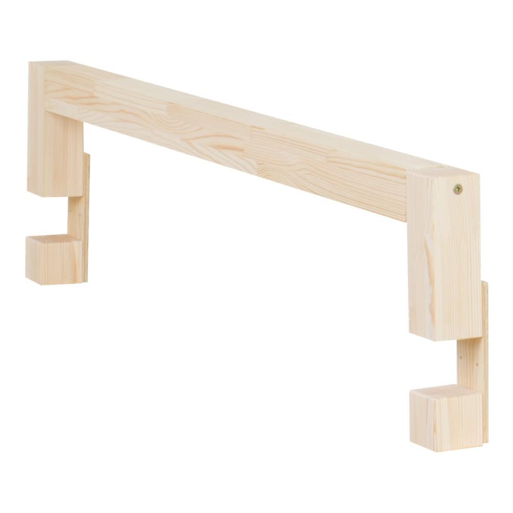 Bočnica z prírodného smrekového dreva k posteli Benlemi Safety, dĺžka 90 cm