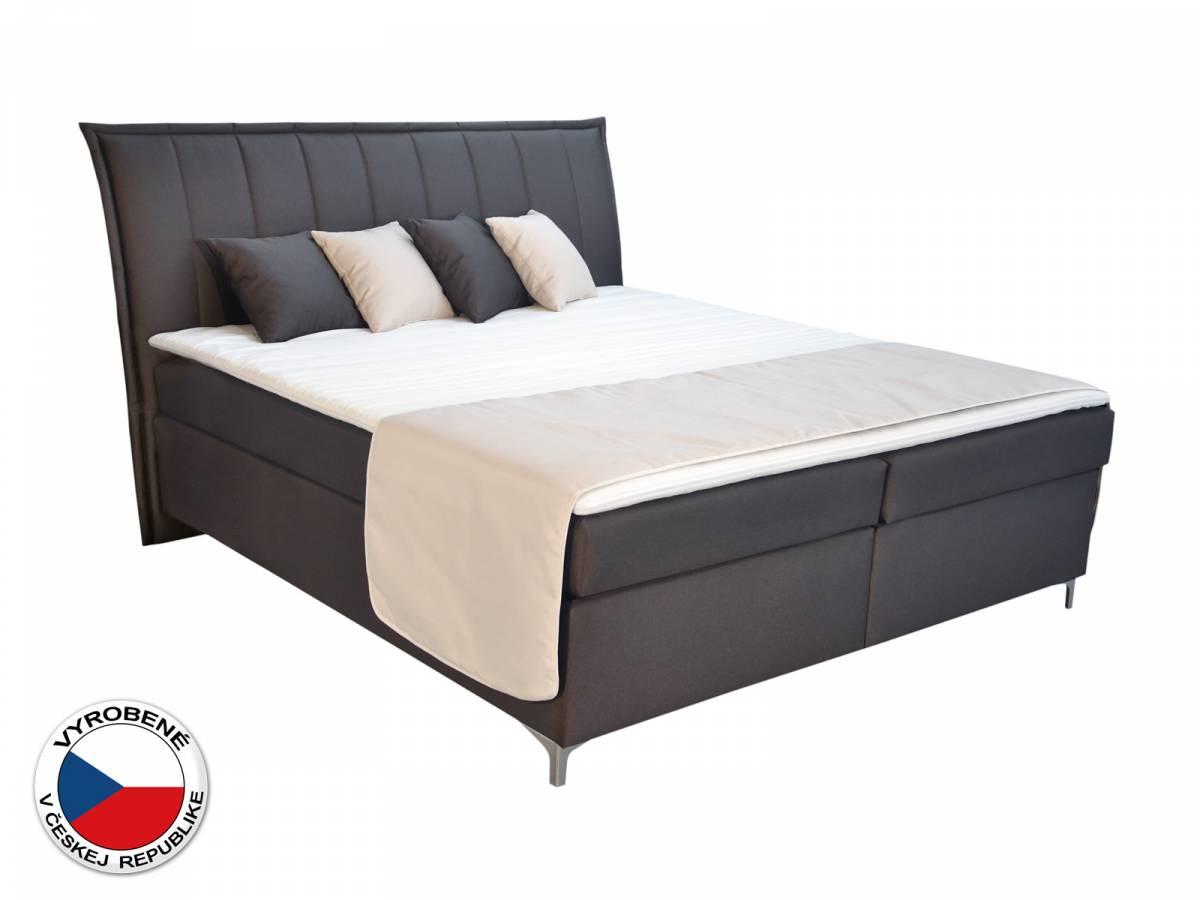 Manželská posteľ Boxspring 160 cm Blanár Colorado (hnedá) (s matracmi)