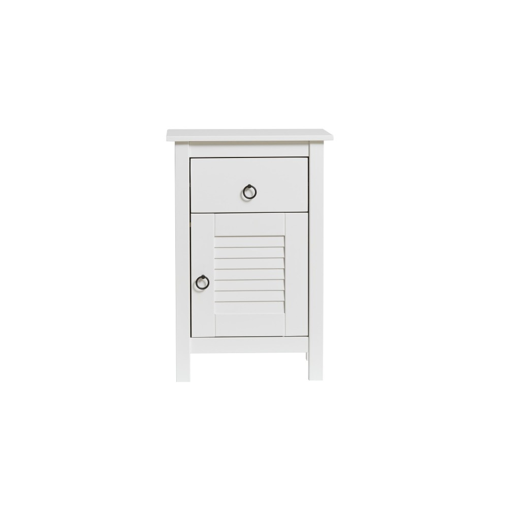 Biely nočný stolík Marckeric Maui, 47 × 69 cm