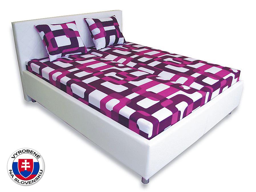 Manželská posteľ 160 cm Leona 1 (s pružinovými matracmi)