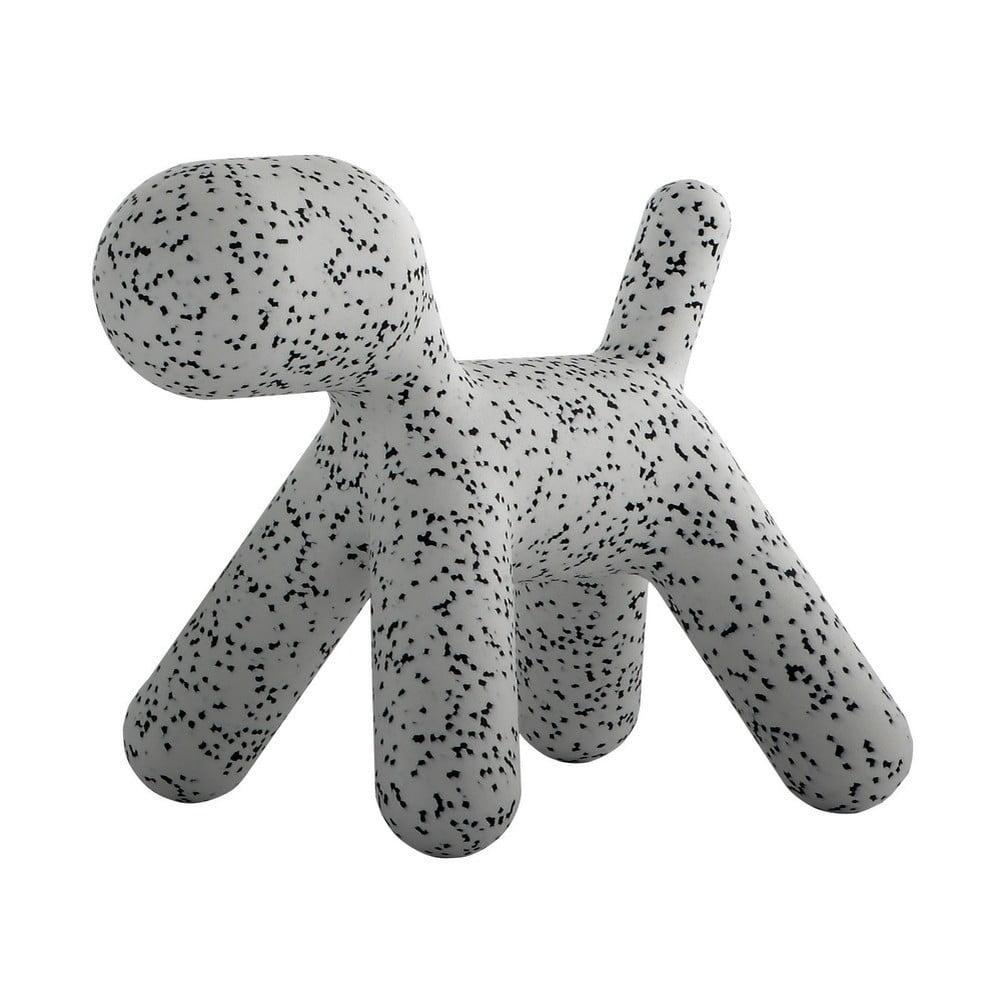 Sivo-čierna detská stolička v tvare psa Magis Puppy, výška 81 cm