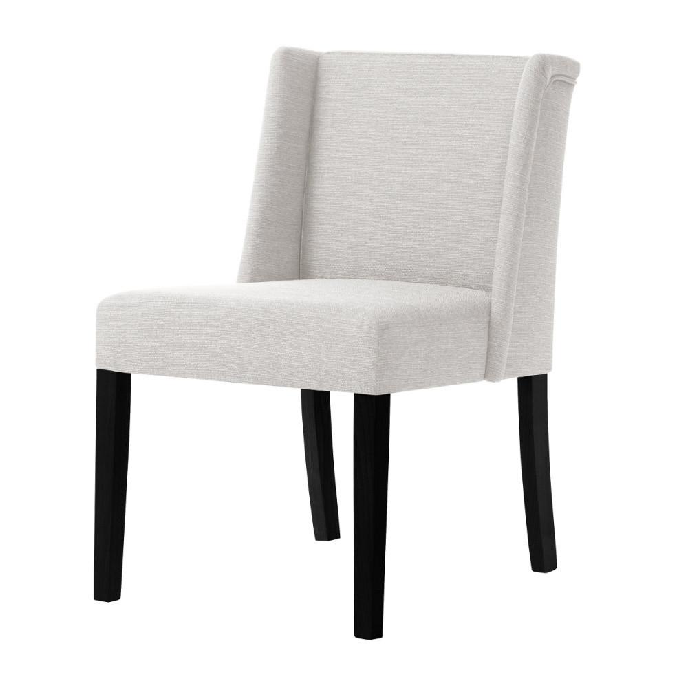 Krémová stolička s čiernymi nohami Ted Lapidus Maison Zeste