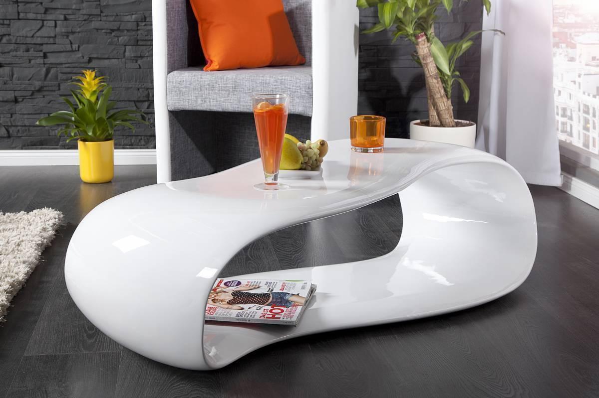 Konferenčný stolík STEM 110 cm - biela