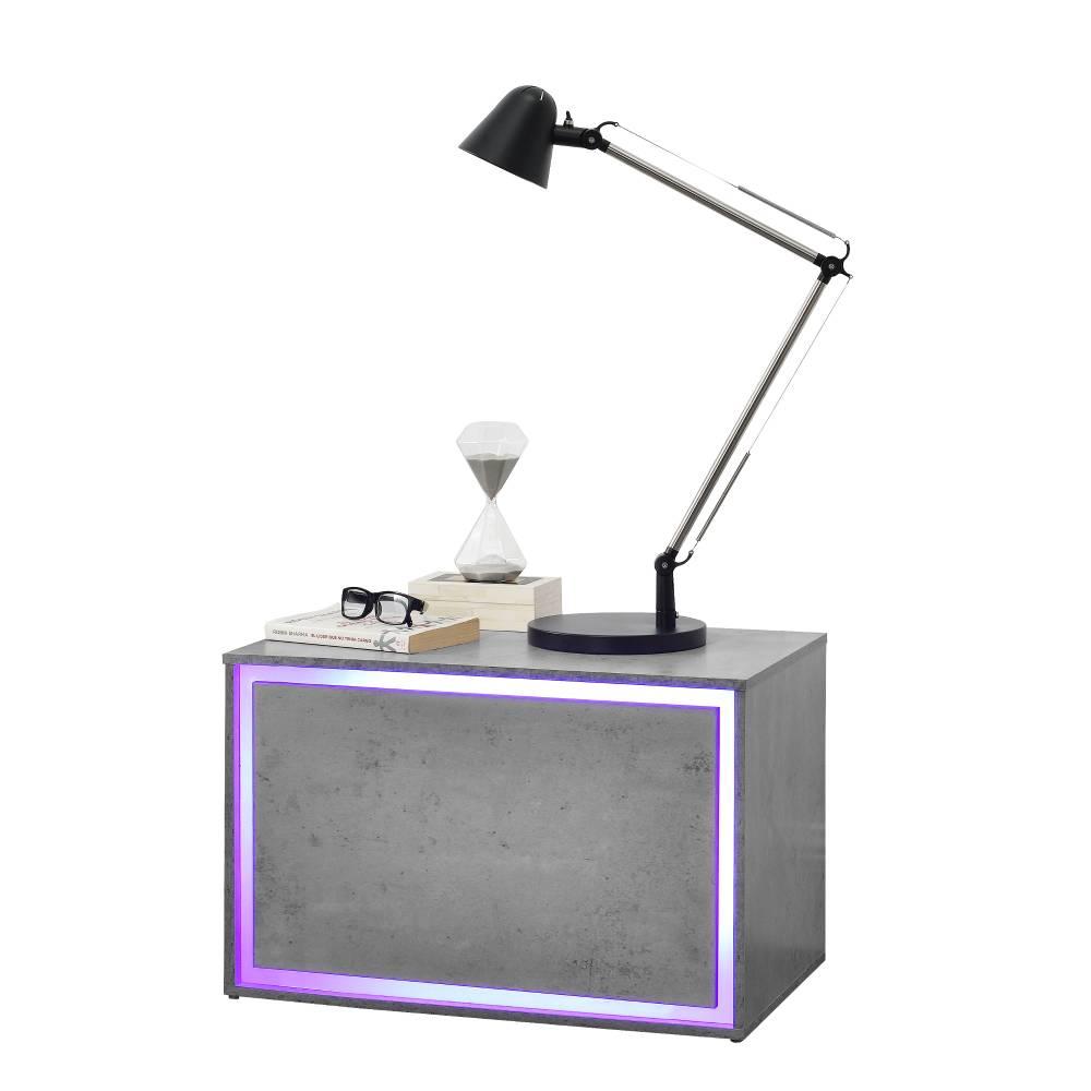[en.casa]® Nočný stolík AALC-1902-B