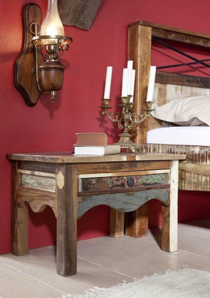 Bighome - OLDTIME nočný stolík lakované staré indické drevo