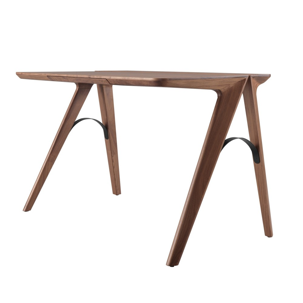 Pracovný stôl z orechového dreva s zásuvkou Wewood - Portugues Joinery Bridge
