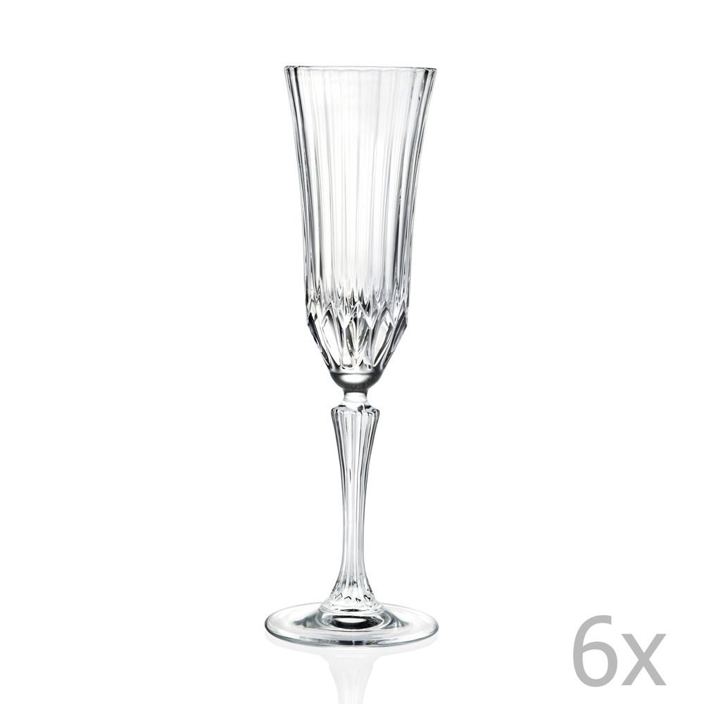 Sada 6 pohárov na sekt RCR Cristalleria Italiana Benedetta