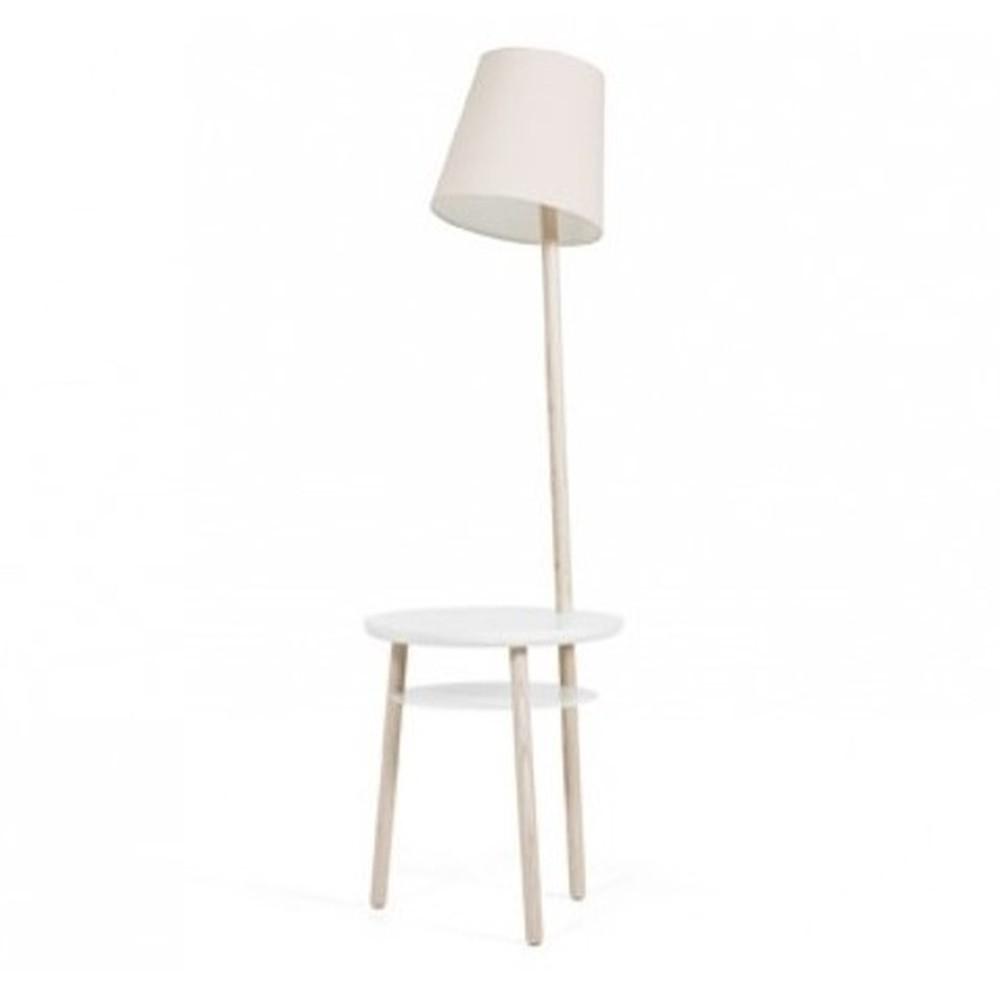 Béžová stolová lampa z jaseňového dreva HARTÔ Josette