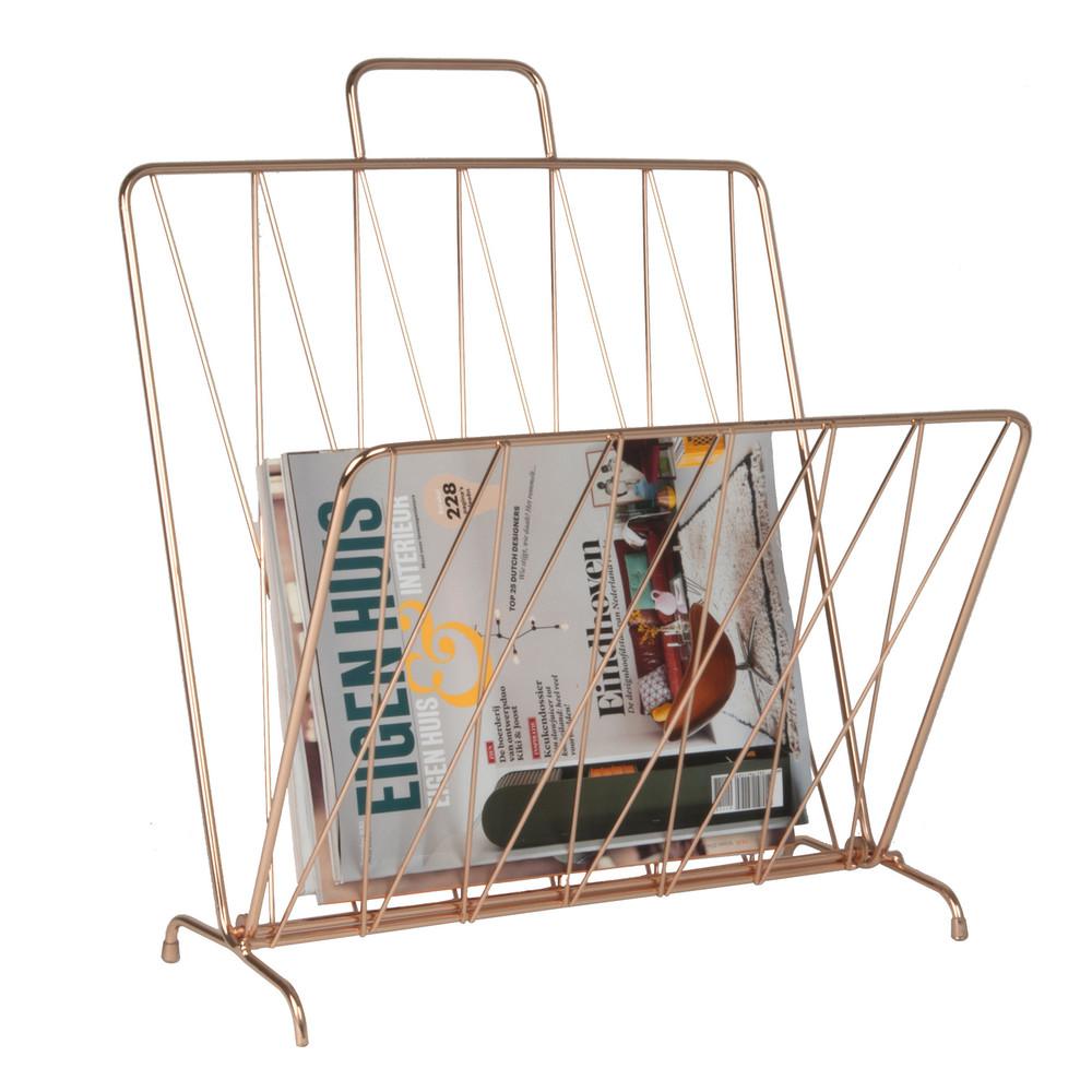 Medený stojan na časopisy ETH Diamond