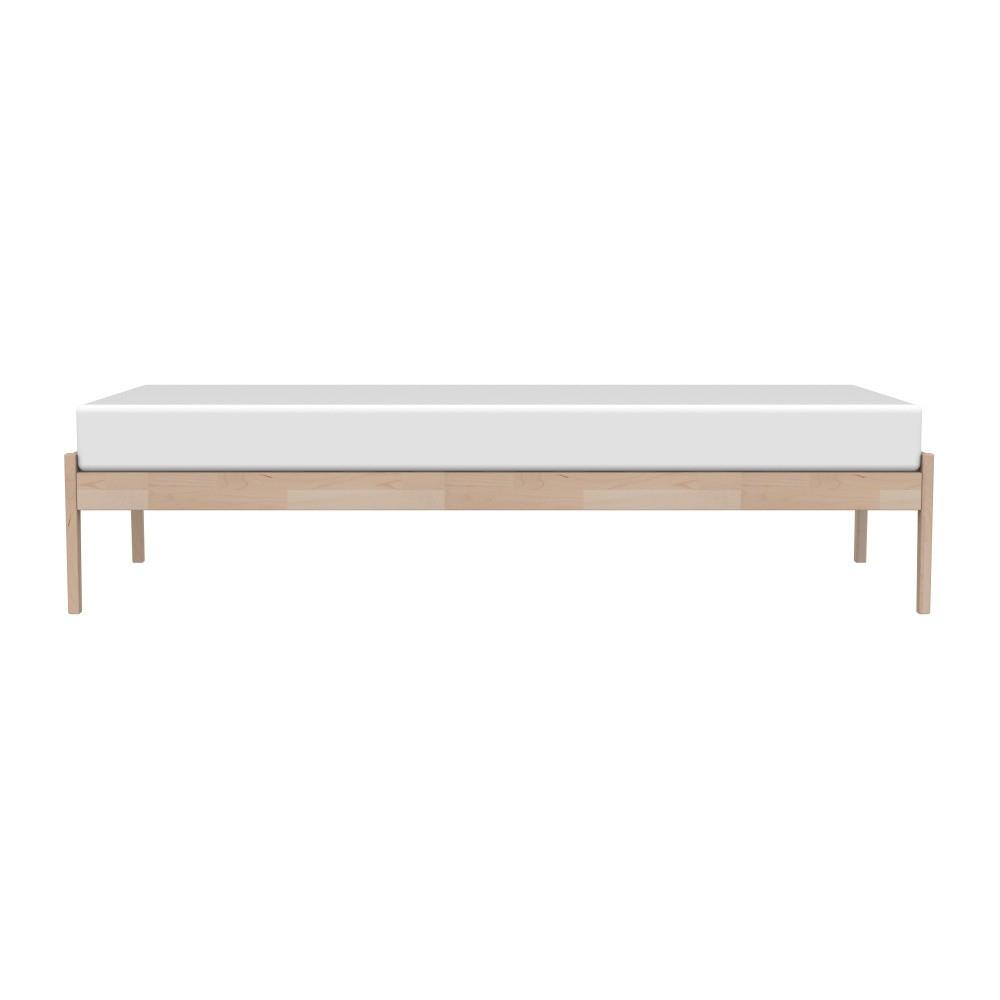Hnedý rám postele z masívneho brezového dreva Kiteen Avanti, 95 × 206 cm